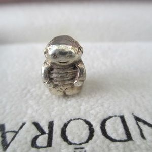 PANDORA SILVER BOY RETIRED USED
